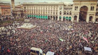 milan protests